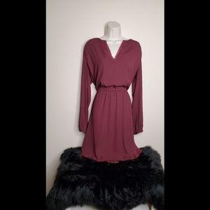 White House Black Market Blouson Long Sleeve Dress
